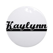 Kaylynn Classic Retro Name Design Ornament (Round)