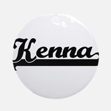 Kenna Classic Retro Name Design Ornament (Round)