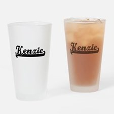 Kenzie Classic Retro Name Design Drinking Glass