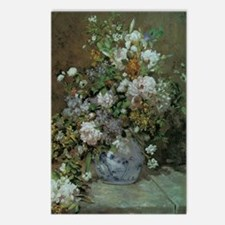 Spring Bouquet by Renoir Postcards (Package of 8)
