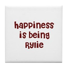 happiness is being Rylie Tile Coaster