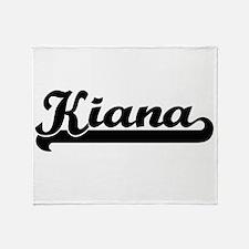 Kiana Classic Retro Name Design Throw Blanket