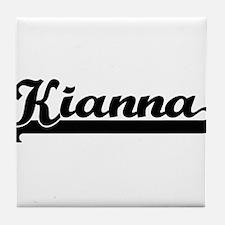 Kianna Classic Retro Name Design Tile Coaster