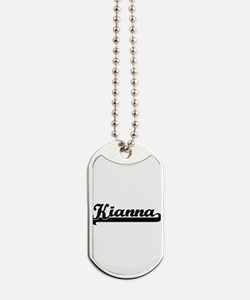 Kianna Classic Retro Name Design Dog Tags