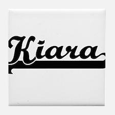 Kiara Classic Retro Name Design Tile Coaster