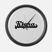 Kiara Classic Retro Name Design Large Wall Clock