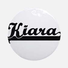 Kiara Classic Retro Name Design Ornament (Round)