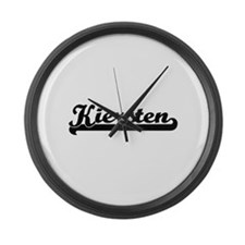 Kiersten Classic Retro Name Desig Large Wall Clock