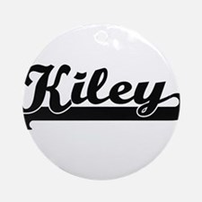 Kiley Classic Retro Name Design Ornament (Round)