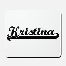 Kristina Classic Retro Name Design Mousepad