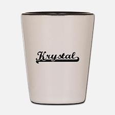Krystal Classic Retro Name Design Shot Glass