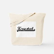 Krystal Classic Retro Name Design Tote Bag