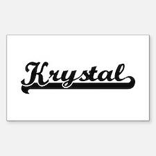 Krystal Classic Retro Name Design Decal