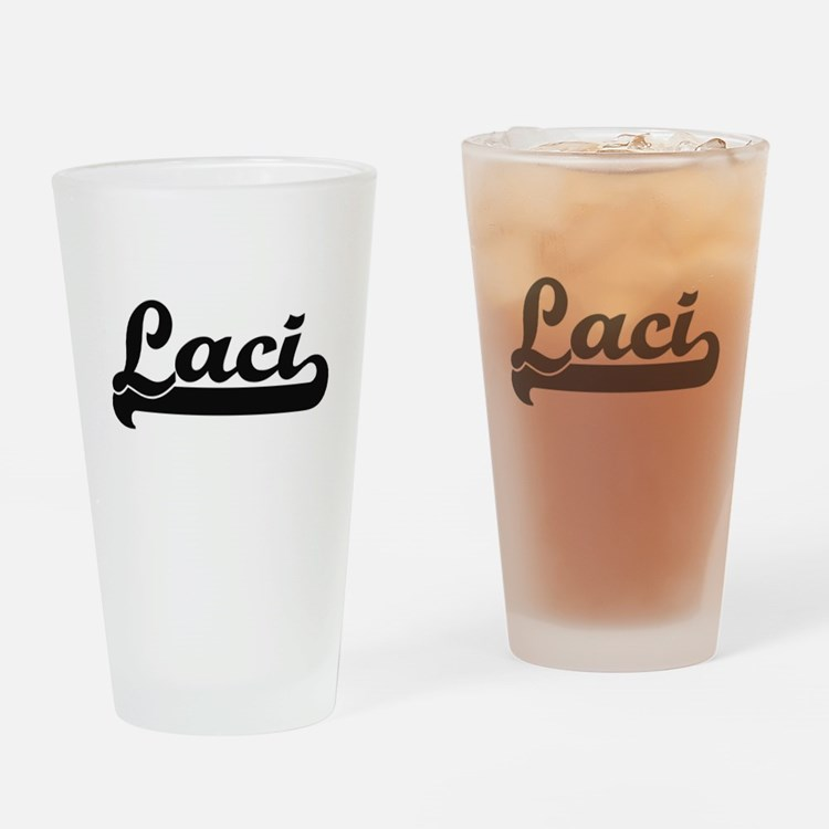 Laci Classic Retro Name Design Drinking Glass