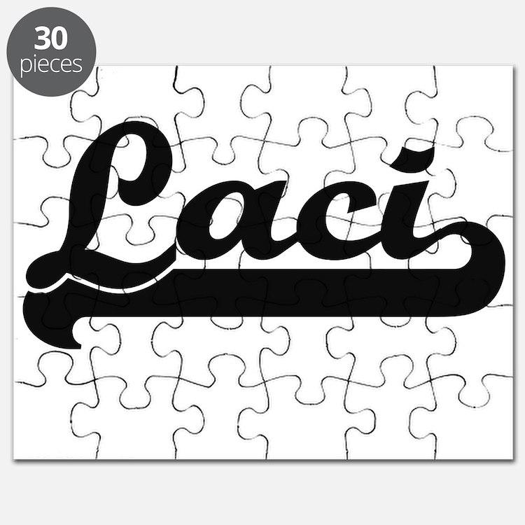 Laci Classic Retro Name Design Puzzle