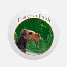 Airedale Peace Ornament (Round)