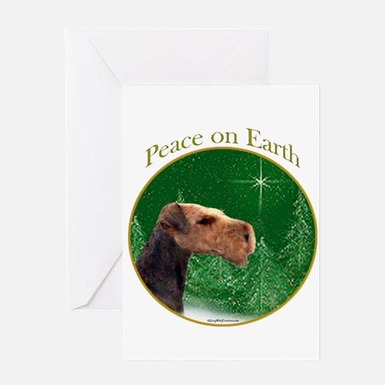Airedale Peace Greeting Card