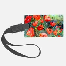 Abstract Poppies Paintings on Ca Luggage Tag