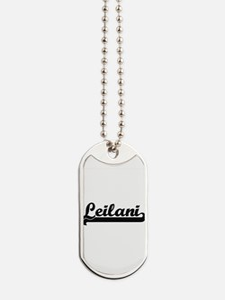 Leilani Classic Retro Name Design Dog Tags