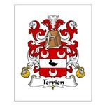 Terrien Family Crest Small Poster