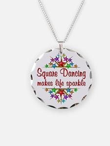 Square Dancing Sparkles Necklace