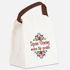 Square Dancing Sparkles Canvas Lunch Bag