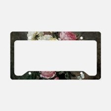 Floral Still Life by Hermanse License Plate Holder