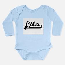 Lila Classic Retro Name Design Body Suit