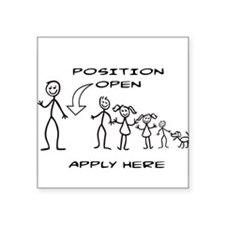 STICK FIGURE FAMILY - POSITION OPEN - MOM Sticker