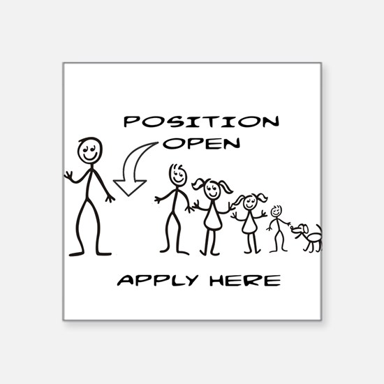 STICK FIGURE FAMILY - POSITION OPEN - MOM Sticker