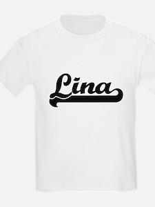 Lina Classic Retro Name Design T-Shirt