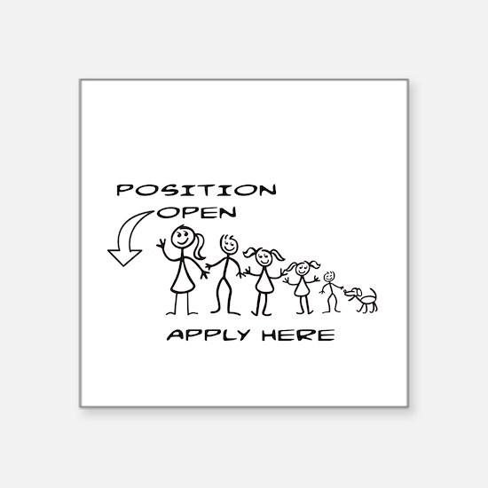 STICK FIGURE FAMILY - POSITION Sticker