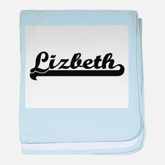Lizbeth Classic Retro Name Design baby blanket
