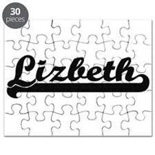 Lizbeth Classic Retro Name Design Puzzle