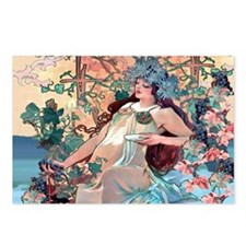 Mucha Autumn Grapes Postcards (Package of 8)