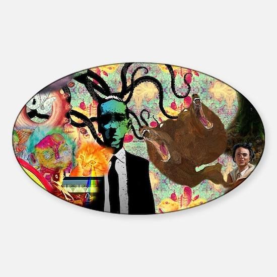 Trippy frankenstien  Sticker (Oval)