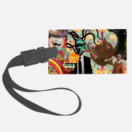 Trippy frankenstien  Luggage Tag