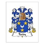 Tardy Family Crest Small Poster