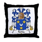 Tardy Family Crest Throw Pillow