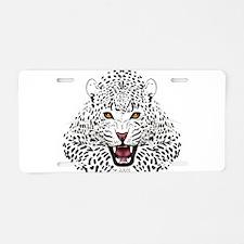 Fierce Leopard Aluminum License Plate