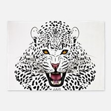 Fierce Leopard 5'x7'Area Rug