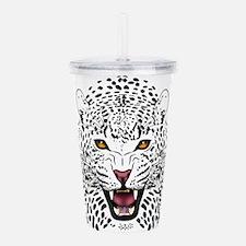 Fierce Leopard Acrylic Double-wall Tumbler