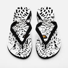 Fierce Leopard Flip Flops