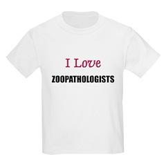 I Love ZOONOSOLOGISTS Kids Light T-Shirt