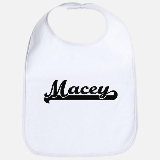 Macey Classic Retro Name Design Bib