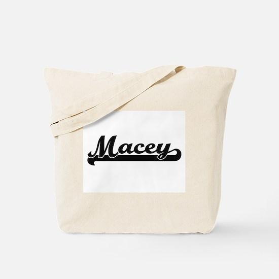 Macey Classic Retro Name Design Tote Bag