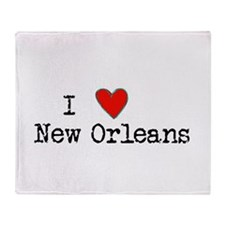 I Love New Orleans Throw Blanket