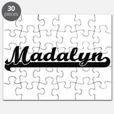 Madalyn Classic Retro Name Design Puzzle