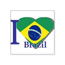 """Unique Brazilian football Square Sticker 3"""" x 3"""""""