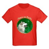 Alaskan malamute christmas Kids T-shirts (Dark)